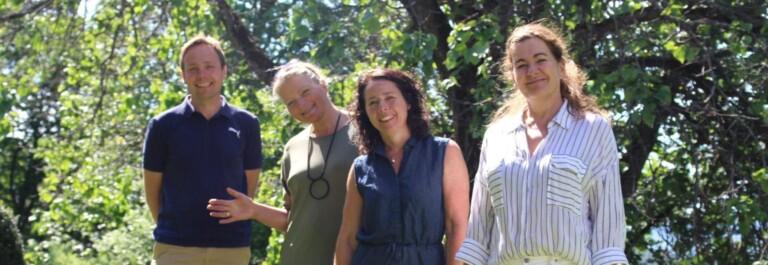 Håkon Nettum, Grethe Bøhn Busterud, Dorte Finstad og Hildegunn Aas bidrar til at Vea kan gjennomføre kurs for anleggsbransjen.